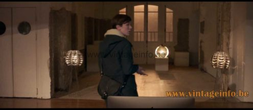 Max Sauze Orion floor lamps used as a prop in the 2019 film Les Traducteurs