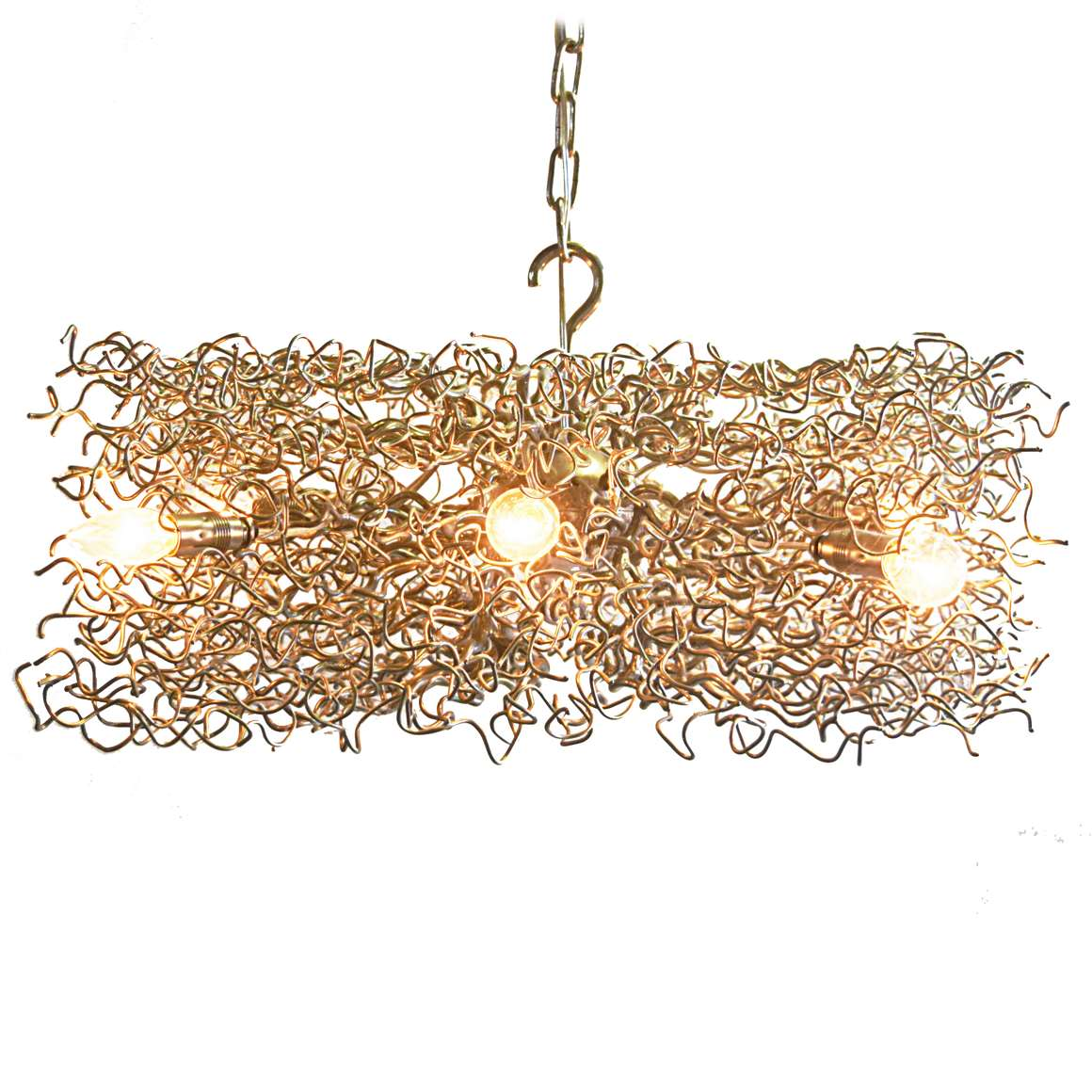 Nickel-Plated Branches Square Chandelier