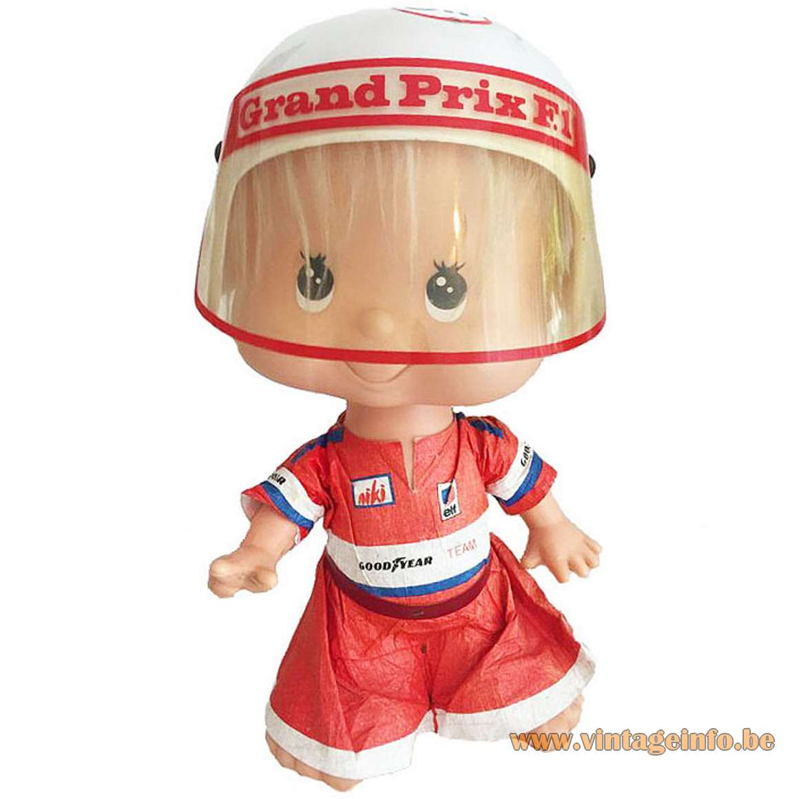 Nuova Linea Zero Bobblehead Table Lamp grand prix Formula 1 plastic 1970s night light children MCM