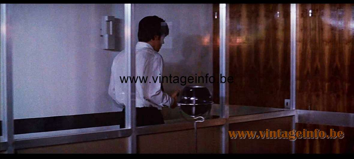 Raak Globe Floor Lamp used as a prop in the film The Sicilian Clan (1969) - Lamps in the movies!