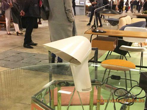White Harvey Guzzini Sorella Desk Lamp, Les Puces Du Design, Paris, France 2018