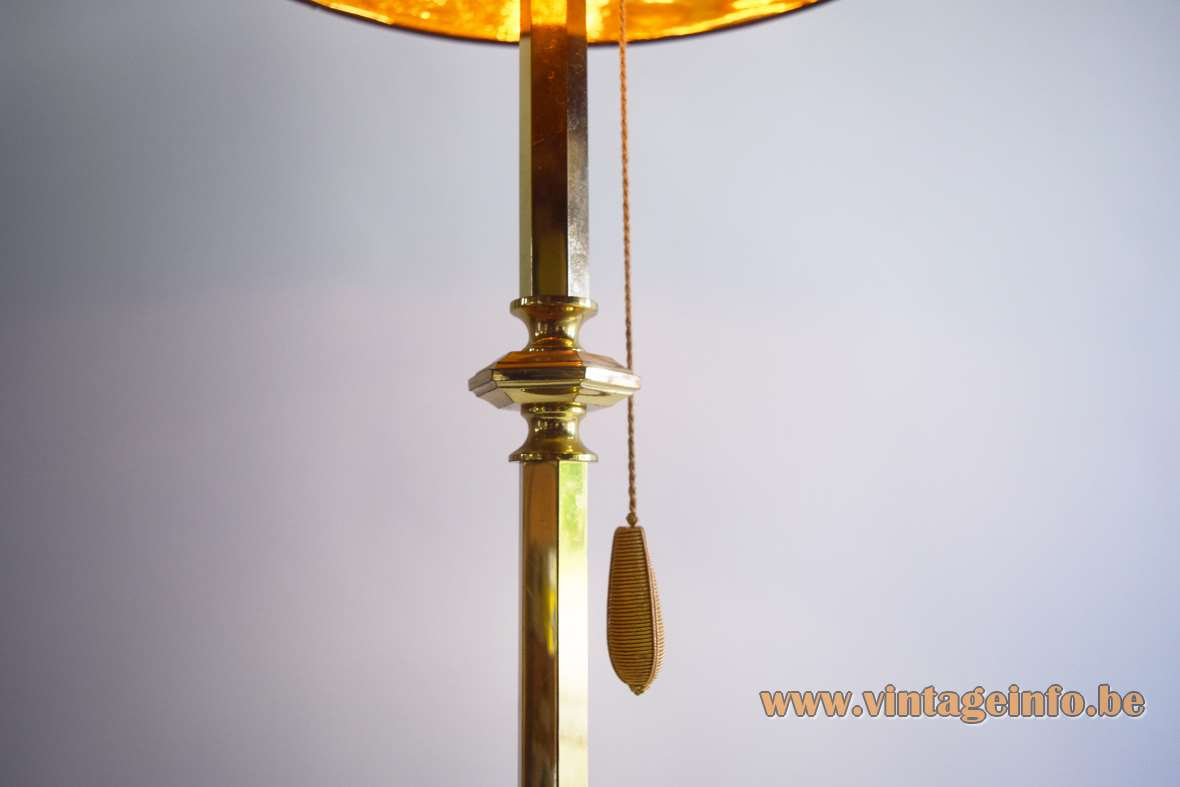 1970s Classic Brass Floor Lamp