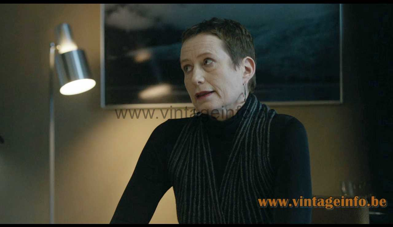 Fog & Mørup Lento floor lamp used as a prop in the 2018 TV series The Bridge S4E3