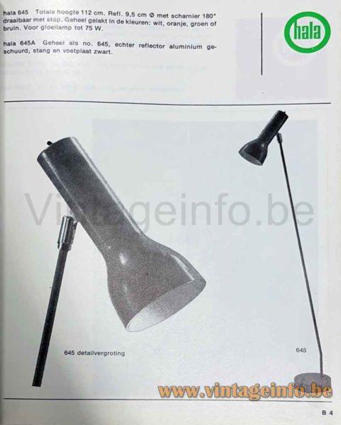 Hala 1970s Reading Floor Lamps - Catalogue Picture