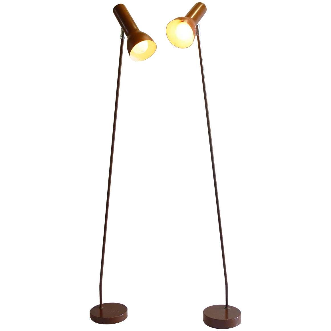 OMI 1970s Reading Floor Lamps
