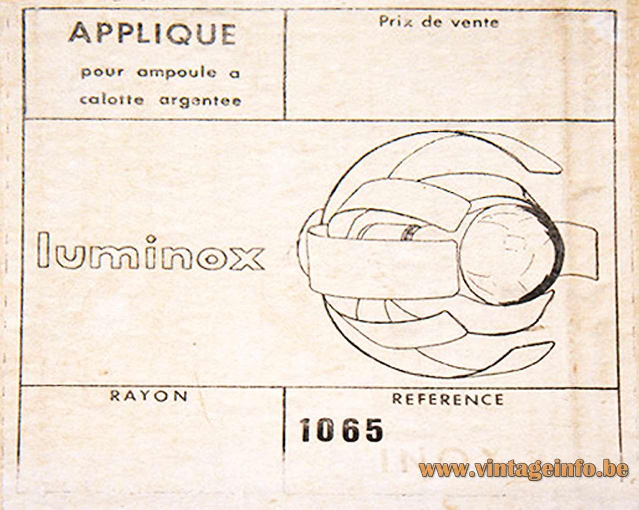 Oxar Luminox Flower Wall Lamp Box Label