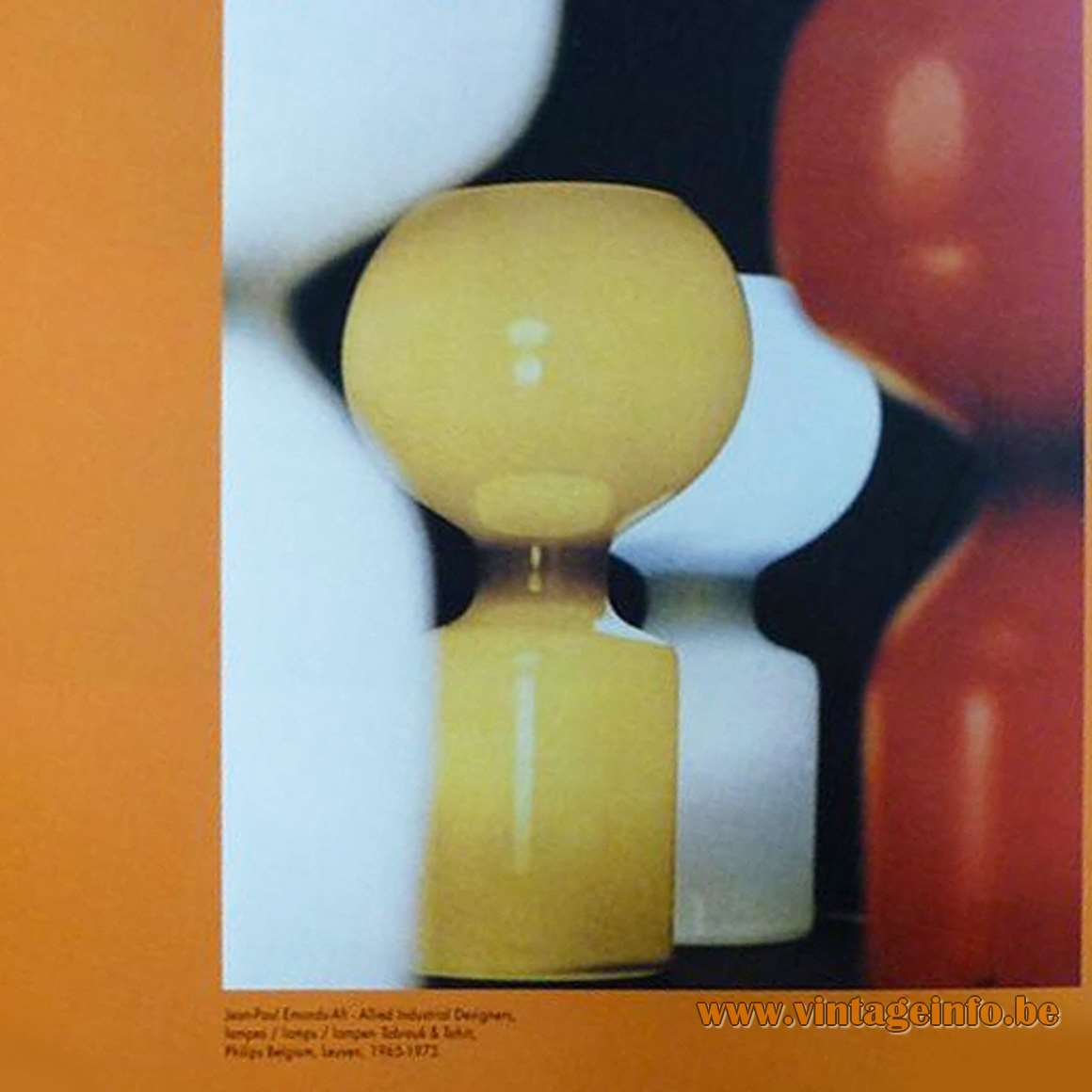 Philips Tobrouk Table Lamps catalogue picture designer: Jean-Paul Emonds-Alt