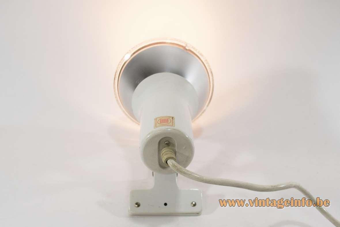 1970s Lita clamp spotlight tube P325 PAR38 France spot lamp Mid-Century Modern MCM
