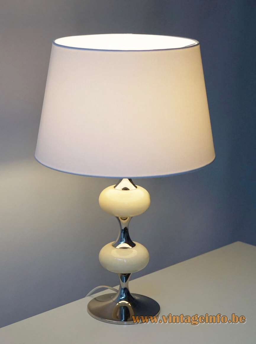1970s White Onyx Table Lamp