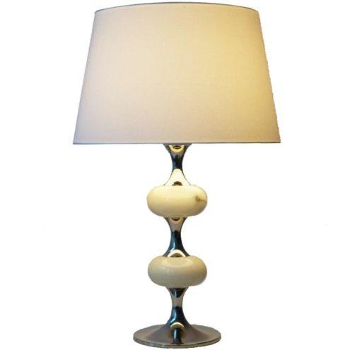 1970s White Onyx Table Lamp