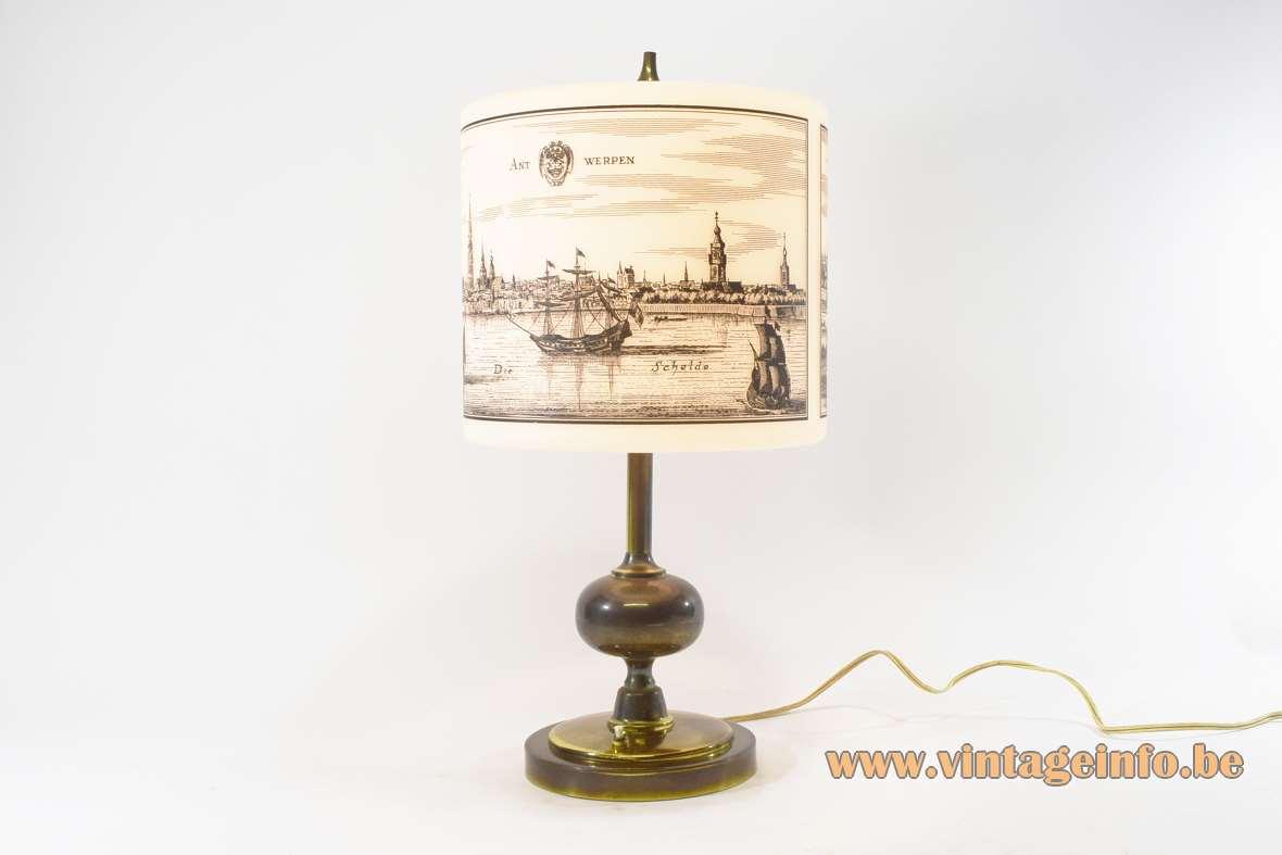 Antwerp - Ghent, Belgium 1950s Table Lamp