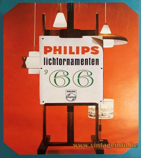 Antwerp - Ghent, Belgium 1950s Table Lamp, Antwerpen, Gent, Philips - 1966 Catalogue