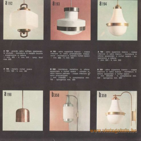 Candle 1960s Lighting Catalogue