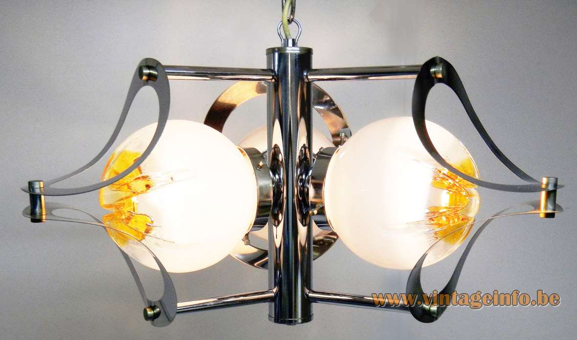 Chrome And Glass Globes Chandelier
