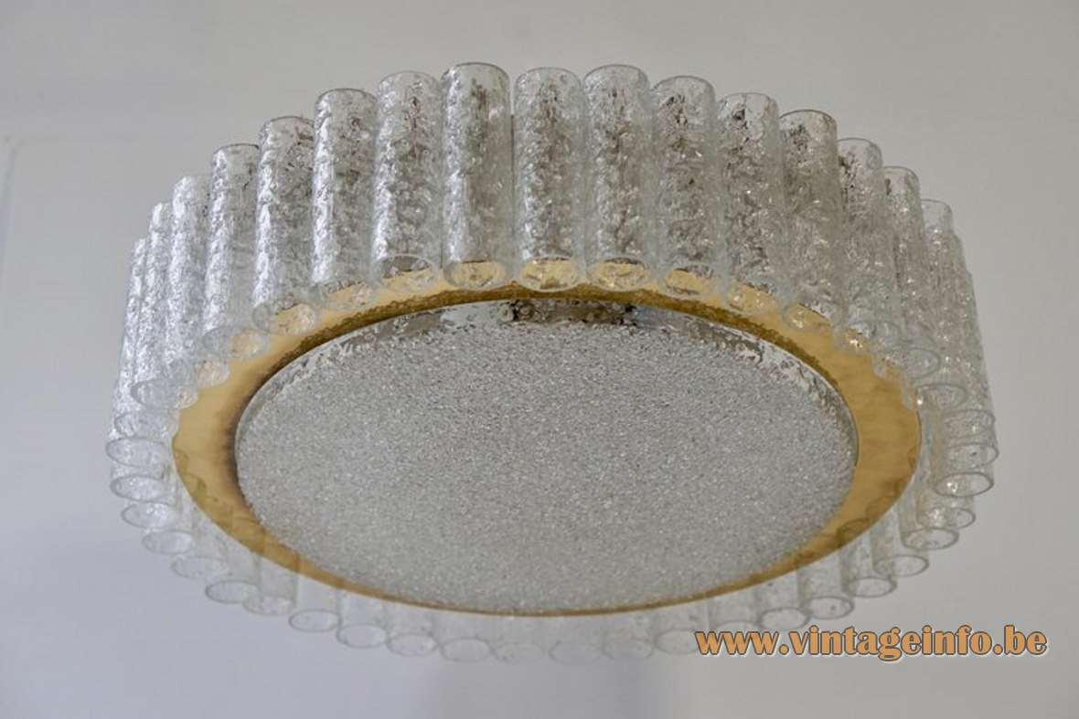 Doria Glass Tubes Flush Mount