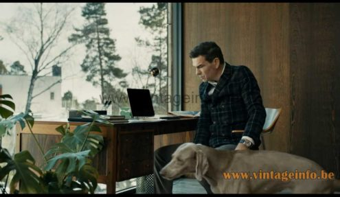 Eichhoff Werke Lampina telescopic desk lamp used as a prop in the 2015 Swedish TV series Modus