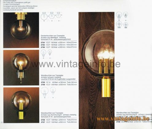 Glashütte Limburg Bubble Glass Garden Wall Lamp - Catalogue Picture