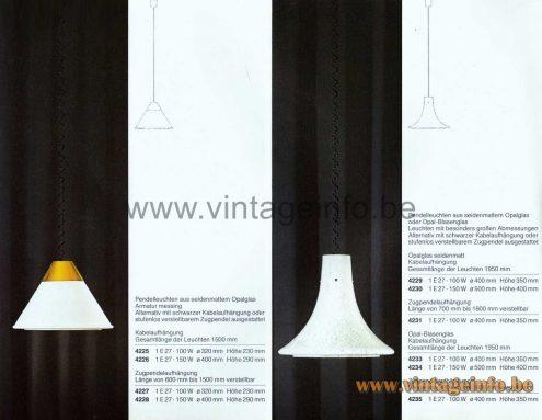 Glashütte Limburg Trumpet Pendant Lamp - Catalogue Picture