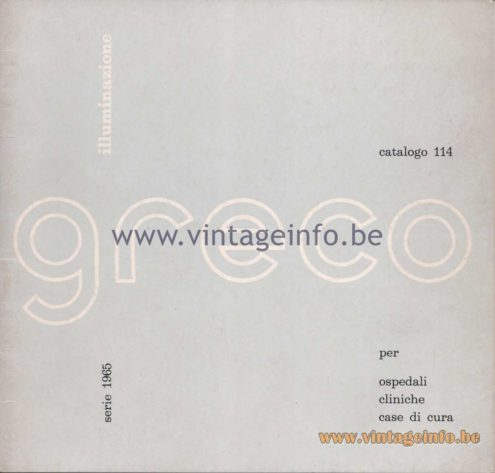 Greco Illuminazione 1965 Catalogue 114 - 1965