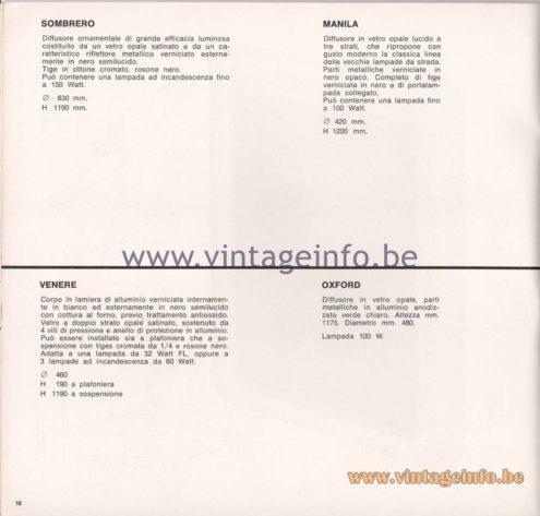 Greco Illuminazione 1965 Catalogue - page 18