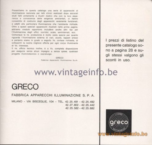 Greco Illuminazione 1965 Catalogue - Page 3