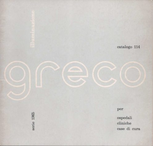Greco Illuminazione 1965 Catalogue - cover