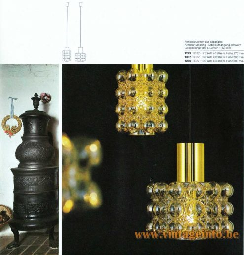 Helena Tynell Bubble Glass Pendant Lamp - 1979 Catalogue Picture