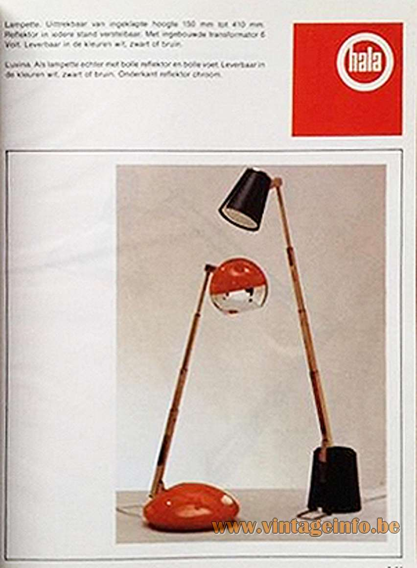 Koch Creations Telescopic Table Lamps - Hala Catalogue 1970