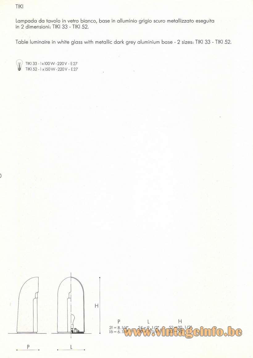 Leucos Tiki Table Lamp - Catalogue Picture