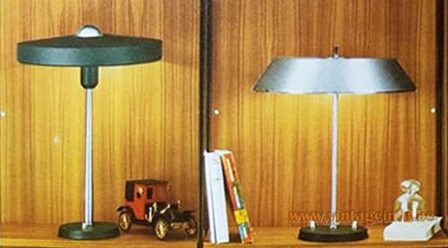 Louis Kalff President & Major desk lamps 1970 catalogue Philips 1960s vintage lighting MCM