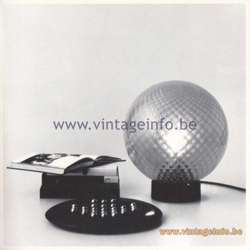 Quattrifolio Design Catalogue 1973 - Malpensa table lamp