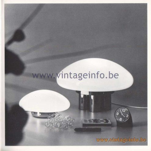 Quattrifolio Design Catalogue 1973 – Micco and Mimosa table lamps