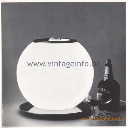 Quattrifolio Design Catalogue 1973 - Tazio table lamp