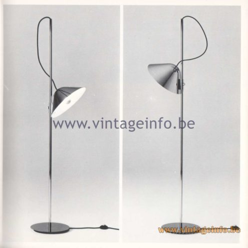 Quattrifolio Design Catalogue 1973 – Verceia floor lamp