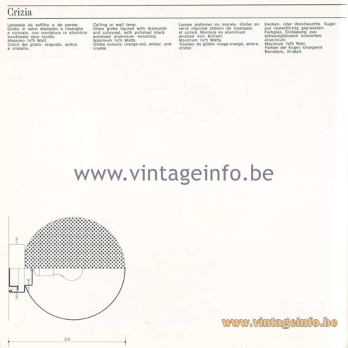 Quattrifolio Design Catalogue 1973 - Crizia flush mount