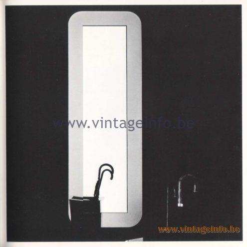 Quattrifolio Design Catalogue 1973 - Mirolungo wall mirror
