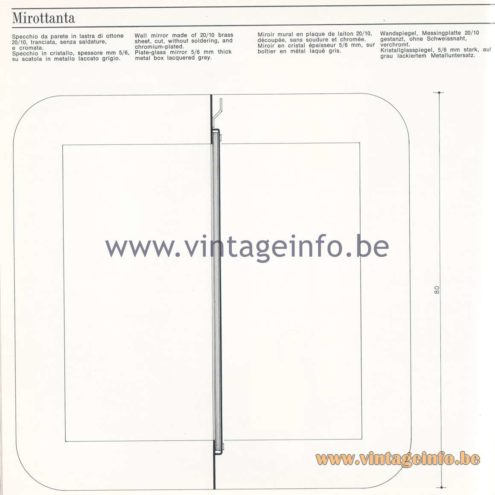 Quattrifolio Design Catalogue 1973 - Mirottantawall mirror