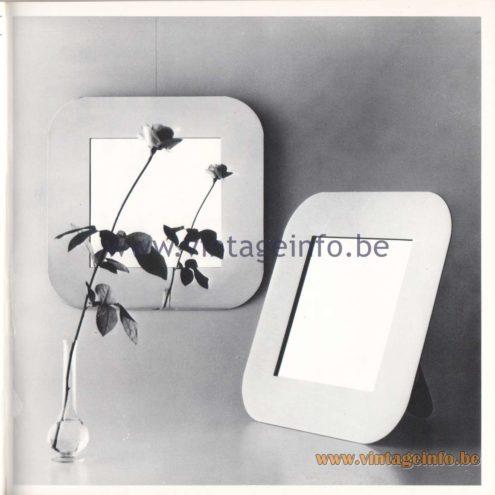 Quattrifolio Design Catalogue 1973 – Mirocinquantawall mirror &Felicitatable mirror