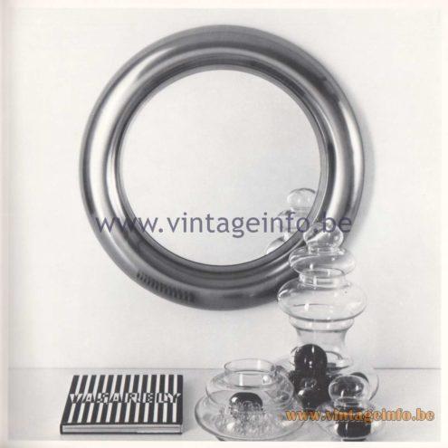 Quattrifolio Design Catalogue 1973 - Ginevra wall mirror