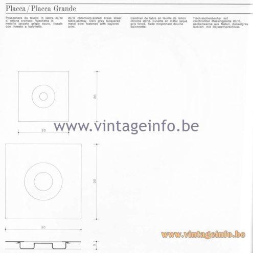 Quattrifolio Design Catalogue 1973 - Placca / Placca Grandetable-ashtray