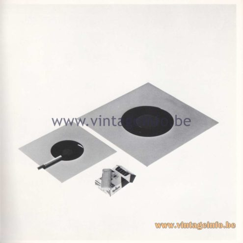 Quattrifolio Design Catalogue 1973 - Placca / Placca Grande table-ashtray