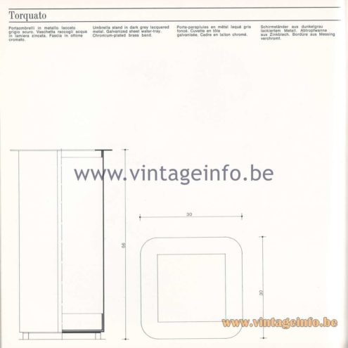 Quattrifolio Design Catalogue 1973 - Torquato Umbrella stand