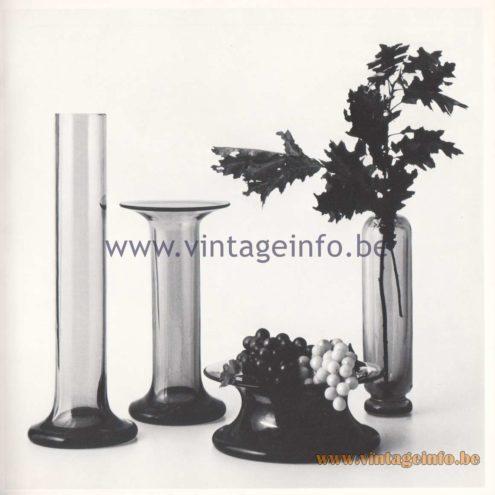 Quattrifolio Design Catalogue 1973 - Cigno / Floriana / Coarezza / BegoniaMurano vases
