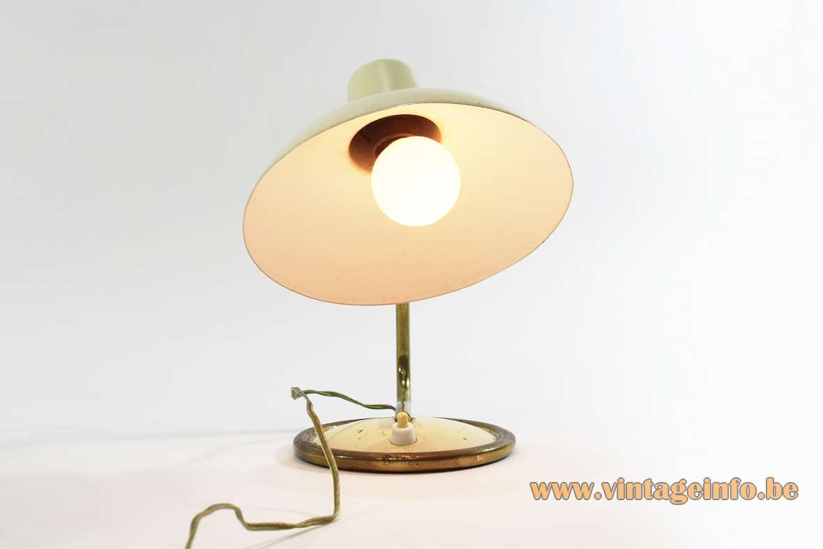 1950s Brass And Aluminium Bedside Lamp