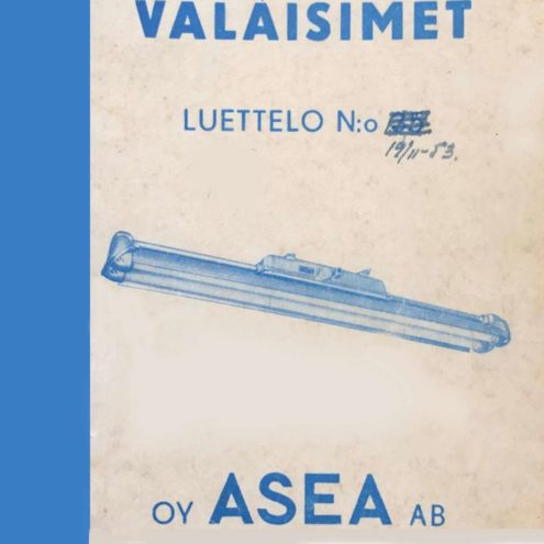 Asea 1950s Lighting Catalogue