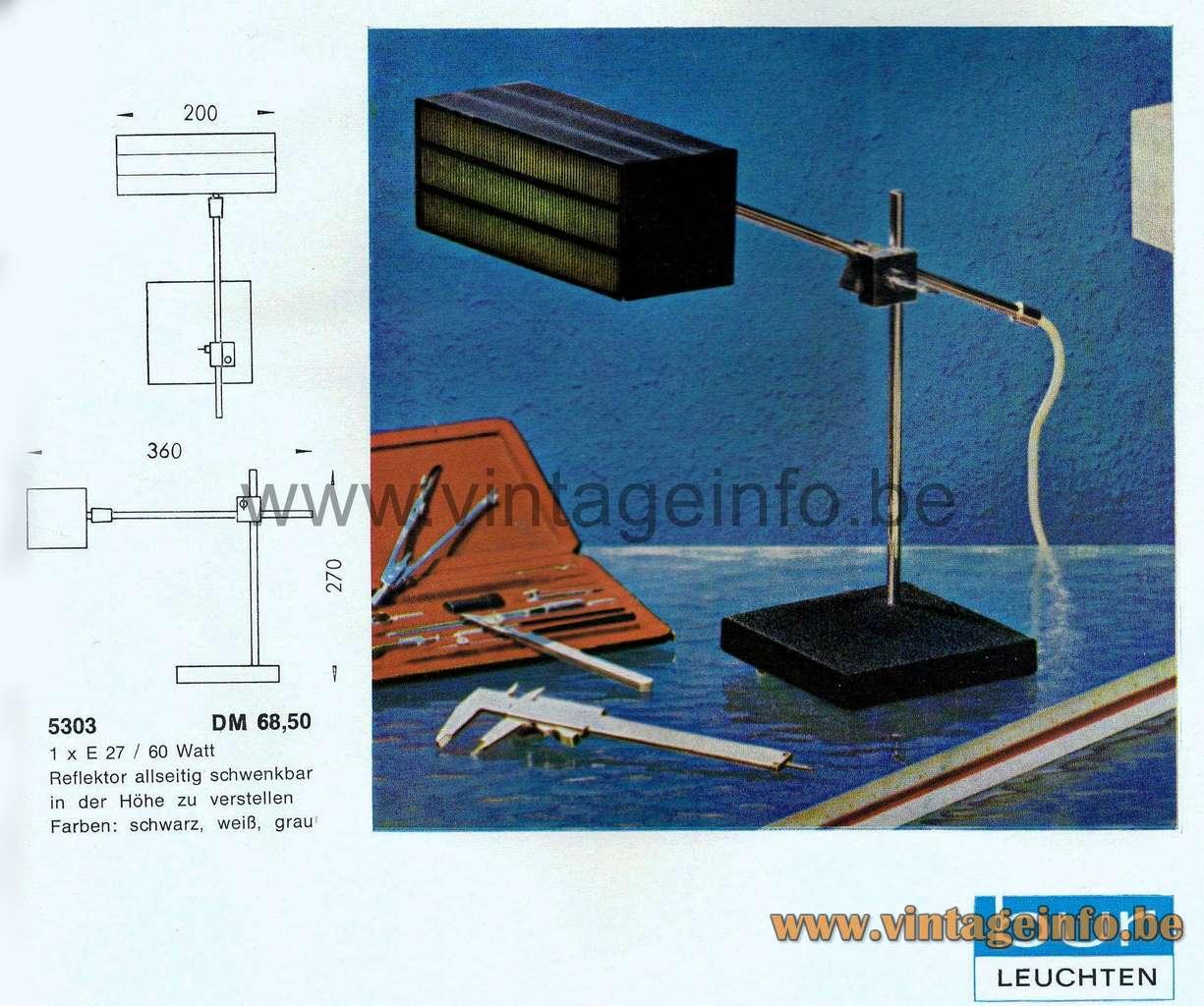 Bünte & Remmler Flamingo desk lamp 1964 Catalogue 1950s 1960s MCM Mid-Century Modern