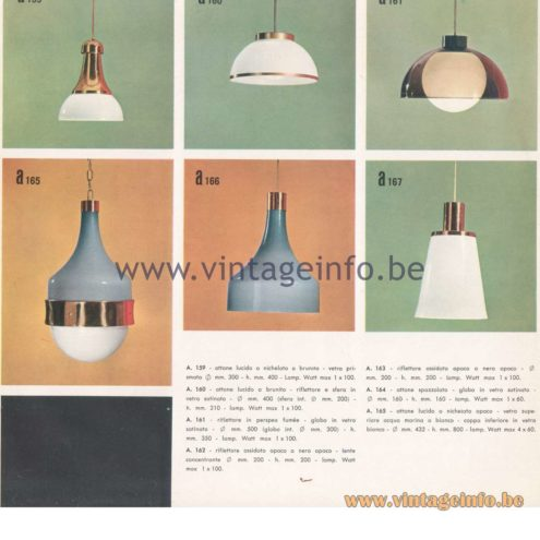 Candle 1970s Novita Lighting Catalogue - Pendant Lamps