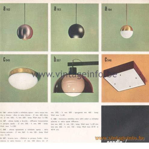 Candle 1970s Novita Lighting Catalogue - Pendant Lamps - Flush Mount