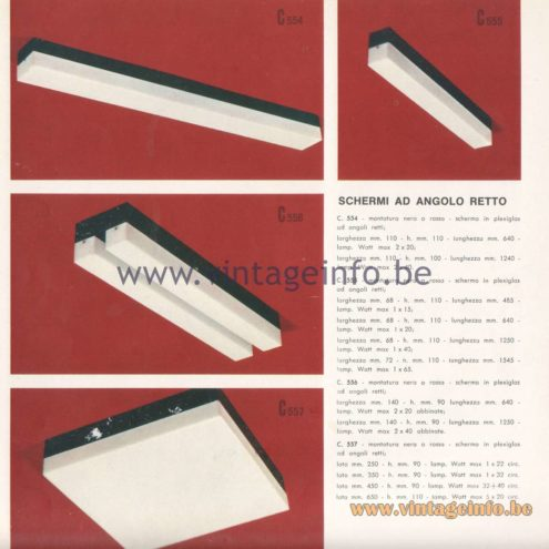 Candle 1970s Novita Lighting Catalogue - Right Angle Screens