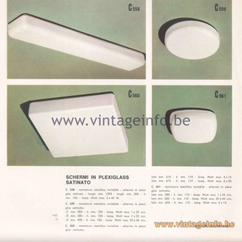 Candle 1970s Novita Lighting Catalogue - Screens In Satin Plexiglass